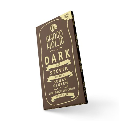 CHOCOHOLIC DARK with Stevia 100g