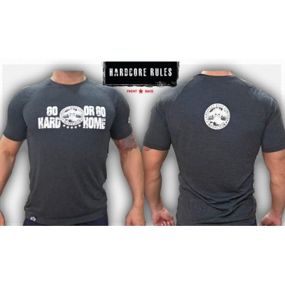 HARDCORE GO HARD OR GO HOME - UNIQUE T-SHIRT NEW