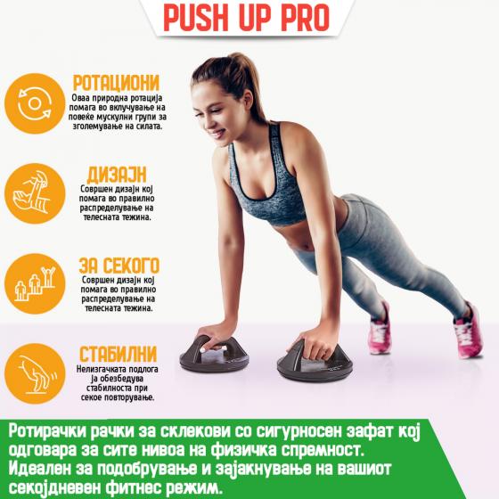 Rotating Push Up Grips Pro