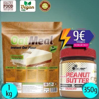 OAT Meal Instant 1000g + Peanut Butter 350g