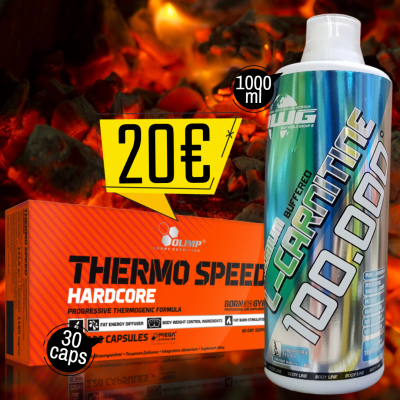 L-CARNITINE 100.000 1000ml + Thermo Speed HARDCORE 30caps