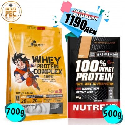 100% WHEY Protein Complex DragonBall 700g + 100% WHEY Protein 500g