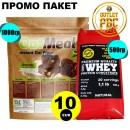 100% Pure WHEY Protein Natural 500g + OAT Meal Instant 1000g