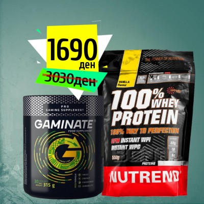 GAMINATE 315g + 100% WHEY Protein 500g