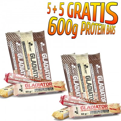 5 + 5 GRATIS GLADIATOR® HIGH PROTEIN BAR