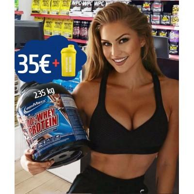 100% Whey Protein 2.35kg + Shaker 500ml