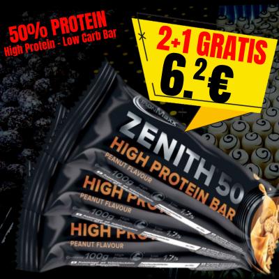 2 + 1 ZENITH PROTEIN BAR 100 g